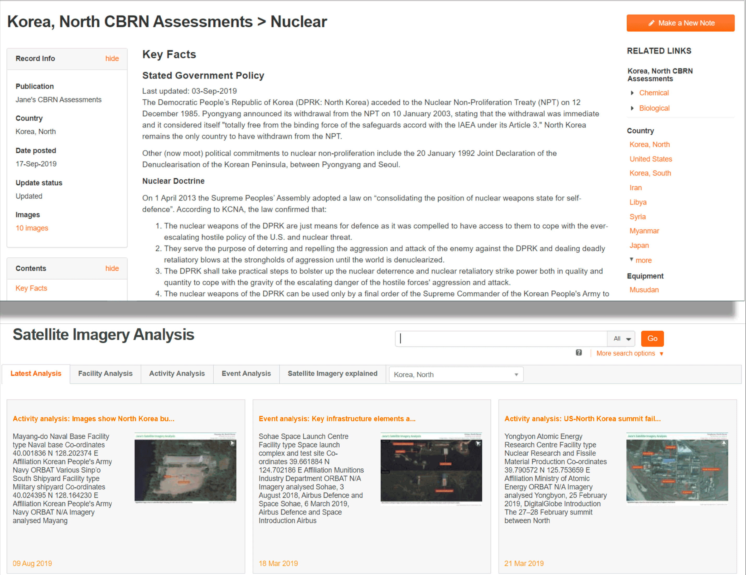 Image of cbrn assessments nuclear satellite imagery