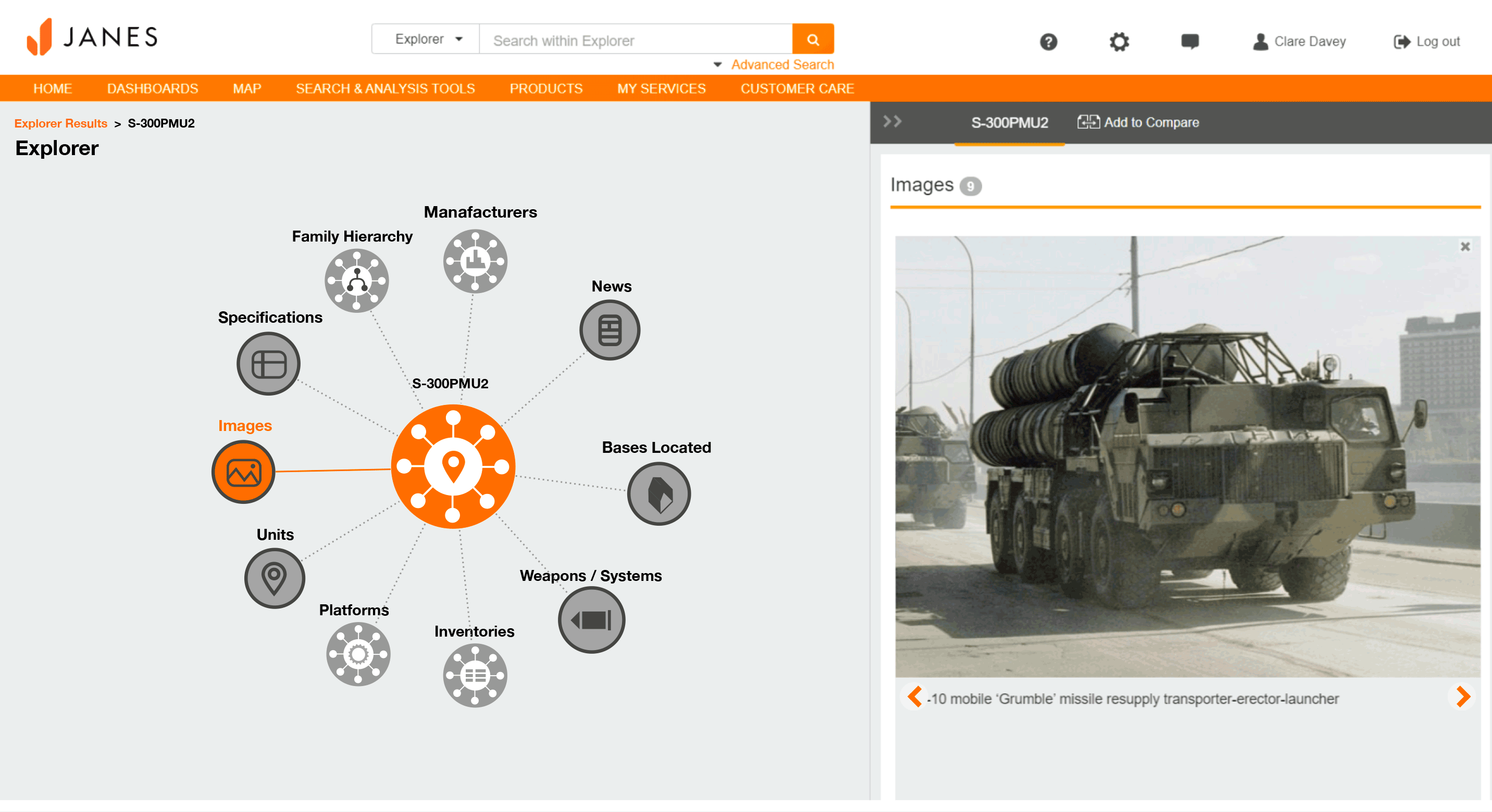 Image of specifications S-300P